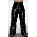 New unisex shiny nylon wet look winter trousers ski pants snowboard pants black